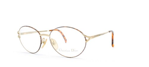Christian Dior Damen Brillengestell Braun Brown Gold