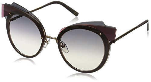 Marc Jacobs – MARC 101/S, Schmetterling, Metall, Damenbrillen, WINE GOLD/DARK GREY SHADED(DDB/9C), 66/16/140