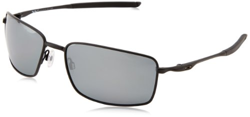 Oakley Sonnenbrille Square Wire, Matte Black W/ Blk Ird Polar, One size, OO4075-05