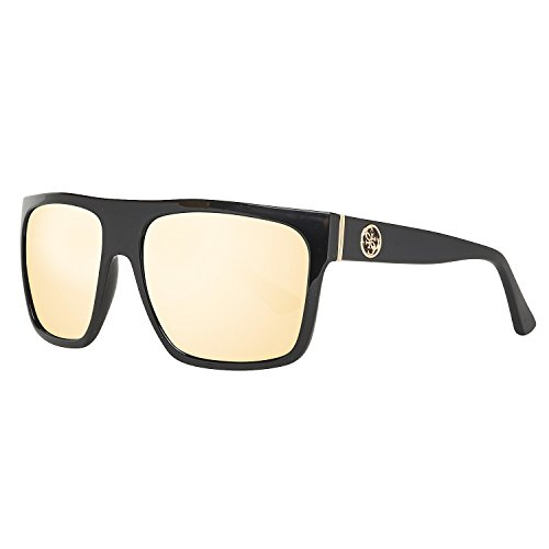 Guess GU7411 C57 01G (shiny black / brown mirror) Sonnenbrillen