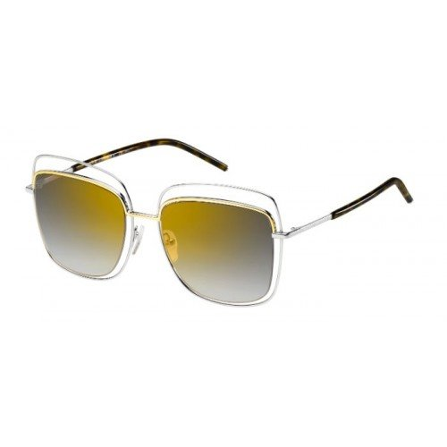 Marc Jacobs – MARC 9/S, Oversize, Metall, Damenbrillen, PALLADIUM GOLD HAVANA/GREY GOLD SHADED MIRROR(TWM/FQ), 54/19/140