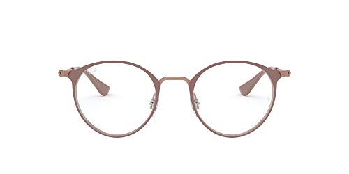 Ray-Ban Unisex-Erwachsene 0RX 6378 2973 47 Brillengestelle, Braun (Copper On Topo Light Brown)