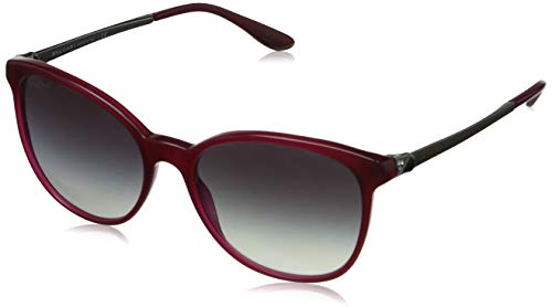 Bulgari Damen 0BV8160B 53338G 54 Sonnenbrille, Rot (Transparent Red/Greygradient)