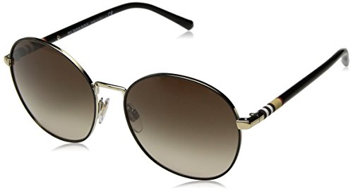 BURBERRY Damen 0BE3094 114513 56 Sonnenbrille, Gold (Light Gold/Browngradient)