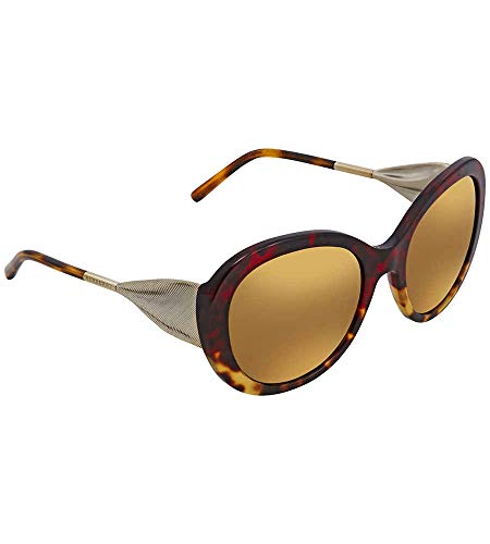 BURBERRY Damen 0BE4191 36646H 57 Sonnenbrille, Rot (Red Havana/Light Havana/Brownmirrorgold)