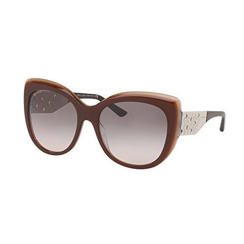 Bulgari Damen 0BV8198B 54423B 57 Sonnenbrille, Braun (Trilayer Brown Beige/Pinkgradientgrey)