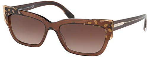 Bvlgari BV8219 Sonnenbrille 56mm brown transparent damen