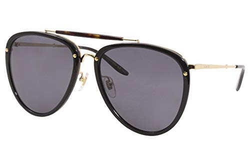 Gucci GG0672S Black / Gold 001 GG0672S Pilot Sunglasses Lens Category 3 Size 58mm