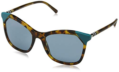 BURBERRY Damen 0BE4263 371080 54 Sonnenbrille, Braun (Brown Havana/Azure/Blue)