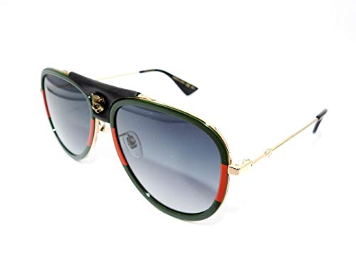 Gucci Sonnenbrillen GG0062S GREEN RED/GREY SHADED Damenbrillen