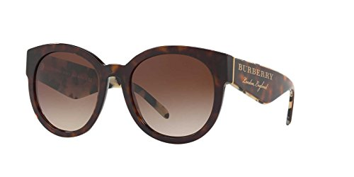 BURBERRY Damen 0BE4260 368813 54 Sonnenbrille, Braun (Dark Havana/Browngradient)